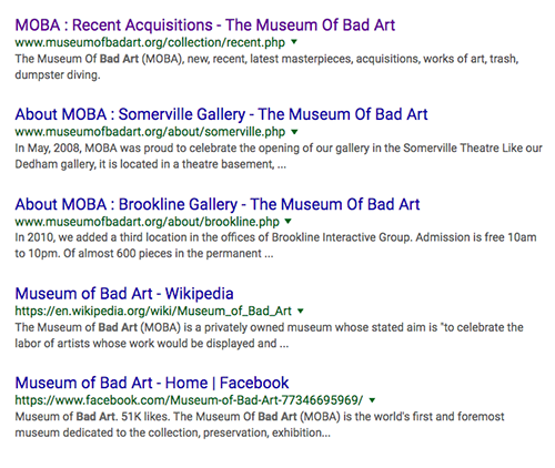 Google search online for MOBA